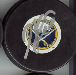 TYLER MYERS BUFFALO SABRES SIGNED PUCK w/ COA