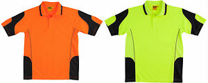 Hi Vis Polo Shirt Size XXS XS S M L XL 2XL 3XL 5XL 7XL Cooldry Safety Mens Top