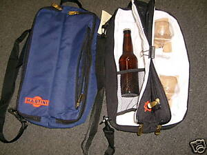 Insulated Martin or Wine bag holds a bottle and 2 glasses,nice. FREE SHIPPING
