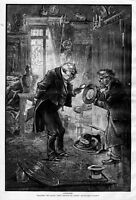 ANTIQUE SHOP COLLECTOR ANTIQUITIES BY THOMAS NAST PRINT