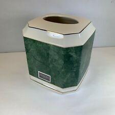 Croscill Carrara Porcelain Hunter Green Tissue Holder cover bath