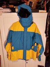 Vintage Men's Marmot Mountain Works DriZone Parka Jacket L Yellow Colorblock
