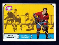1968-69 Topps #66 Gilles Tremblay Montreal Canadiens NM Near Mint condition