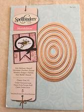 Spellbinder Nestabilities Dies Classic Ovals Large 5 Die Set S4-110 New