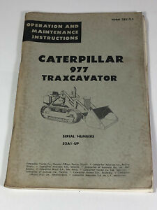 CATERPILLAR 977 TRAXCAVATOR Operation and MAINTENANCE Instruction Manual Booklet
