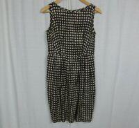 Banana Republic Women's Silk/Cotton Printed Sleeveless Sheath Dress Pockets Sz 6
