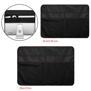 Black Dustproof Cover PU Leather Storage Dust Cover Guard for iMac Screen