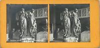 París Museo Del Louvre Escultura Germain Neumático Foto Pl36 Estéreo Vintage