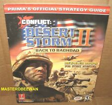Conflict Desert Storm II Back To Baghdad Guide Book New PS2, GC, XBOX, PC