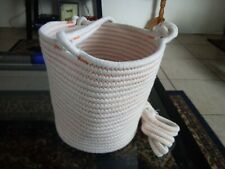TIGHT KNITTED HANGING FLOWER POT HOLDER.