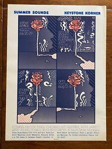 Vintage Keystone Korner Summer Sounds Music Jazz Poster San Francisco