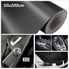 2 Roll 50x200cm 3D Carbon Fiber Car SUV Foil Film Wrap Sticker Decals Waterproof