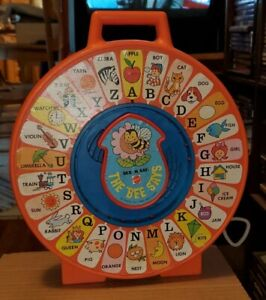 1983 vintage Mattel SEE N' SAY The bee says working kids toy learning