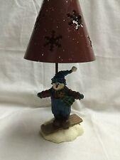 Crazy Mountain Snowman Skiing Tealight Lamp