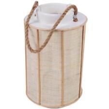 Portavelas de color principal blanco de madera para el hogar