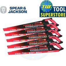 "5pc Spear and Jackson Handsaw 5 Pack - 22"" Predator Universal Hand Saw"