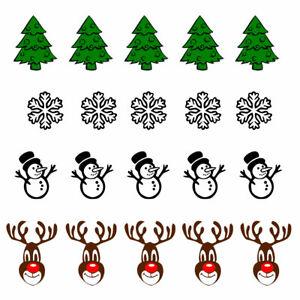 Set of 20 Christmas theme Iron on Screen Print Machine Washable fabric transfer