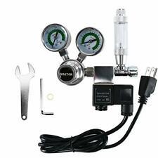 CO2 Regulator Aquarium Big Dual Gauge w/ Bubble Counter Solenoid tools (G5/8)-CA