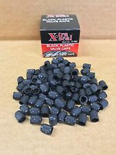 QTY 100: Xtra Seal Tire Valve Stem Black Plastic Caps Trackable Ship USA Seller