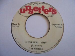 """THE HEPTONES  Sufferer's Time UPSETTERS Lee Perry + Roots Reggae 7"""" HEAR"""