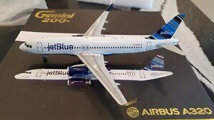 Gemini Jets JetBlue Airways A320-232WL 1:200 G2JBU285 2010s Barcode Clrs N805JB