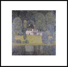 Gustav Klimt Litzlbergkeller Poster Kunstdruck im Alu Rahmen schwarz 40x40cm