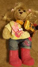 Hannah Montana Build a Bear bear, shirt, shorts, wig, boots, guitar, and mic