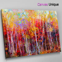 SC958 impressionist autumn forest Scenic Wall Art Picture Large Canvas Print