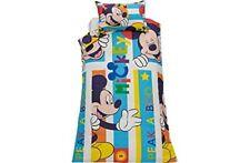 Disney Mickey Mouse Peek A Boo Single Reversible Rotary Duvet Cover Set Kids New