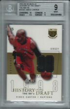 2003-04 VINCE CARTER Skybox LE History of the Draft JERSEY #2/10 BGS MINT
