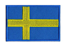 Badge Sweden Flag Patch Suede 70 x 1 25/32in Sew-On