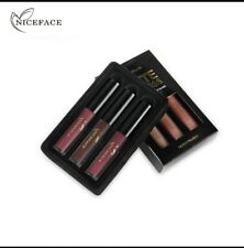 3pcs/set Make up set Lipgloss Matte Kit Long lasting Waterproof Lipstick (SET D)