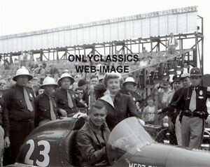 CLARK GABLE & BARBARA STANWYK TO PLEASE A LADY INDY 500 AUTO RACING 8X10 PHOTO