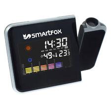 Smartfox Digitaler LCD Wecker mit Uhrzeit-Projektion farbiges Display schwarz