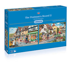 Gibsons - 2 X 500 PIECE JIGSAW PUZZLES - The Postman's Round 2
