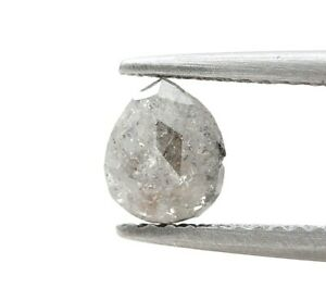 Rustico Naturale Diamante Sfuso Pera Completo Cut Argento Luccicante 0.67Ct Per