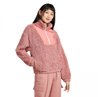 Women's Long Sleeve Quarter Zip Sherpa Jacket - Wild Fable - Rose - M - C500