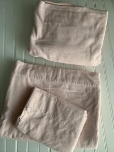 LL Bean Flannel Sheet SET Pink SOFT Cotton Portugal TWIN Size