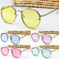 Quality Round Oval Transparent Colour Flat Tinted Lens Sunglasses Frame UV400