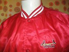 Vintage 90s Ancienne VESTE BOMBER ST. LOUIS CARDINALS BASEBALL CHALK LINE SATIN