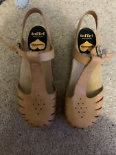 Swedish Hasbeens Size 39 (6) Natural Leather