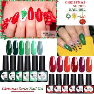 7.5ml Christmas Nail Gel Polish UR SUGAR UV LED Set Colour Varnish Glitter Coat