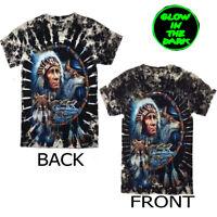 Native American Indian Dream Catcher Wolf t-shirt Both Side Print Glow In Dark