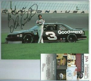 Dale Earnhardt Sr Autographed 6x9 Photo JSA COA Professional Nascar Race Driver