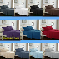 Hotel Luxury Wrinkle Free 1800 Count 4 Piece Bed Sheet Set Deep Pocket Sheets 8H