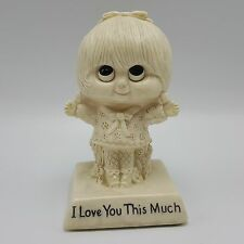 Love You This Much Girl Big Eye Figure Wallace Russ Berries Vintage 1975 729 USA