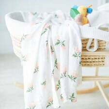 120*120cm Cotton Baby Blanket Breathable Muslin Wrap Bamboo Fiber Baby Swaddle