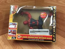 "2004 TOY BIZ 15"" ELECTRONIC FLOOR CRAWLING SPIDERMAN ACTION FIGURE RARE!"