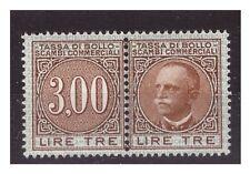 1929  -  MARCA DA BOLLO  SCAMBI COMMERCIALI   LIRE 3  NUOVA **