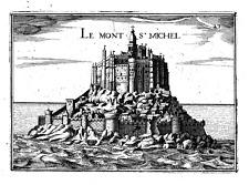 Antique map, Le Mont St Michel. Rare.
